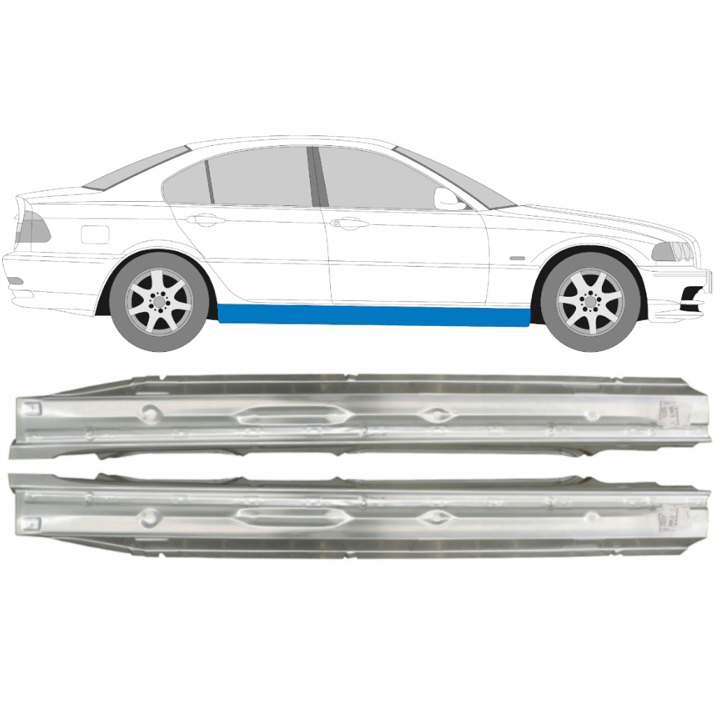 Bmw 3 Series 4 Dr Saloon 2001 to 2005  E46  RH Sill Full Type