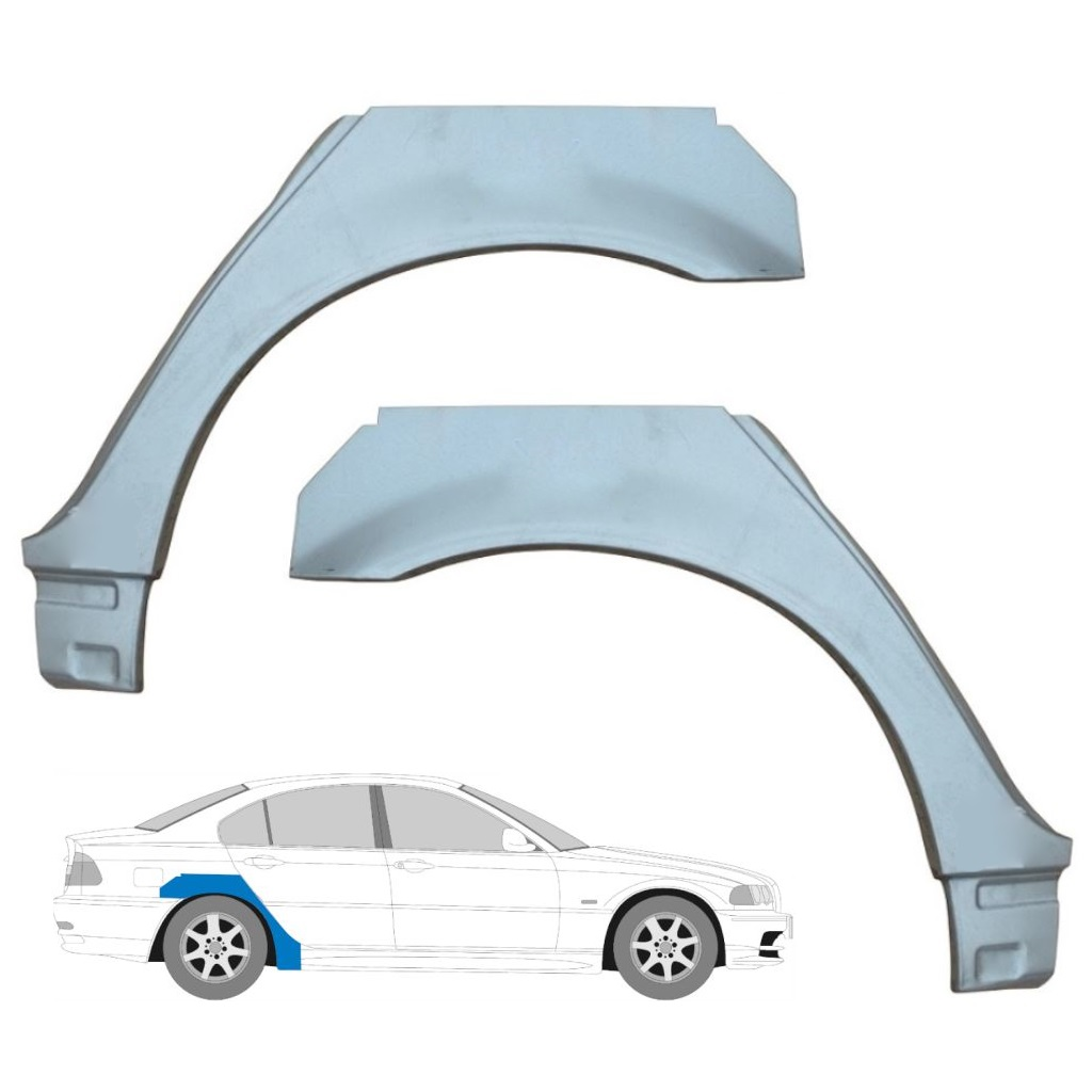 Reparaturblech Kotflügel Set BMW 3er E36 Limousine Touring Compact