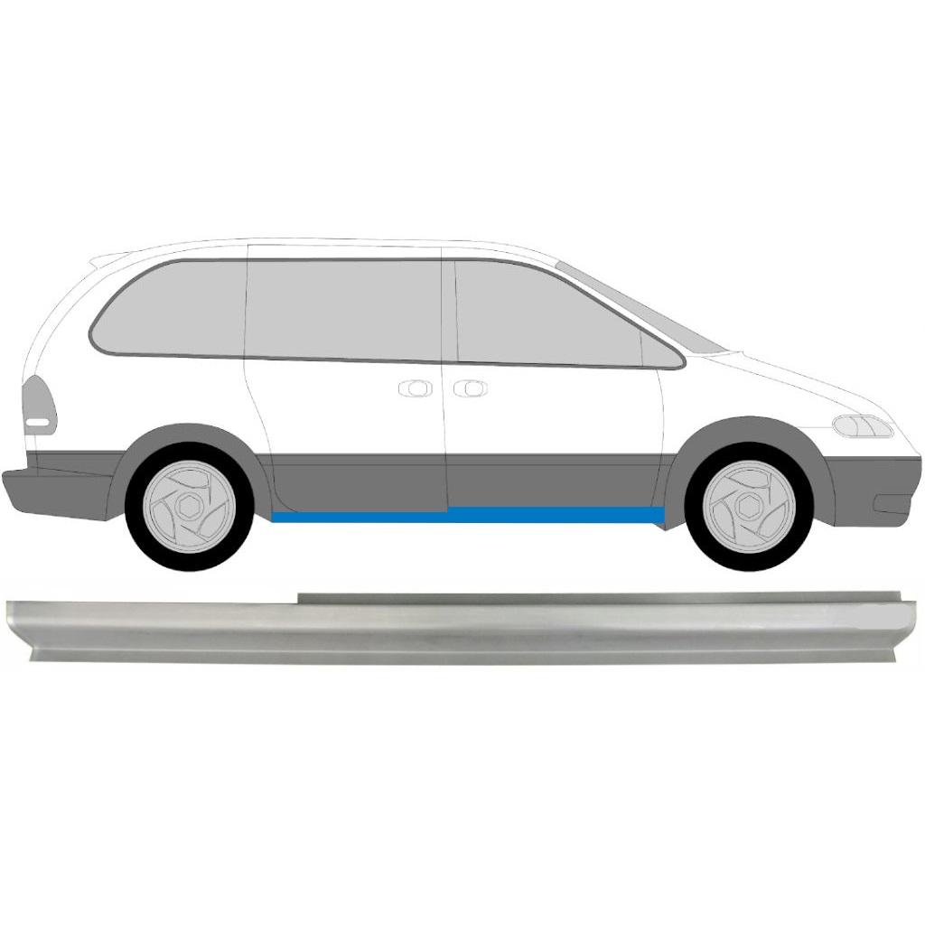 Chrysler Voyager 2000-2008 Schweller Reparaturblech Unterteil Rechts = Links