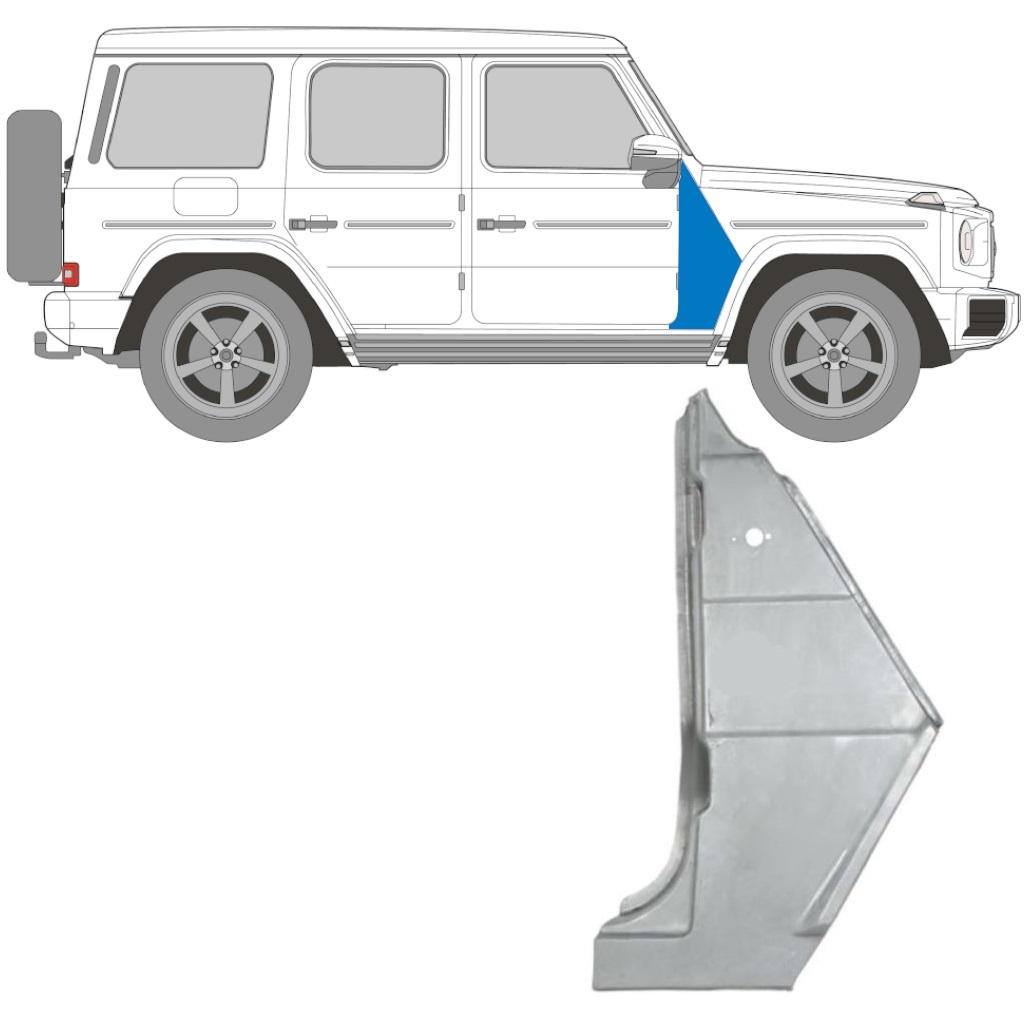 MERCEDES G CLASS   W463 Front Wing Fender Right