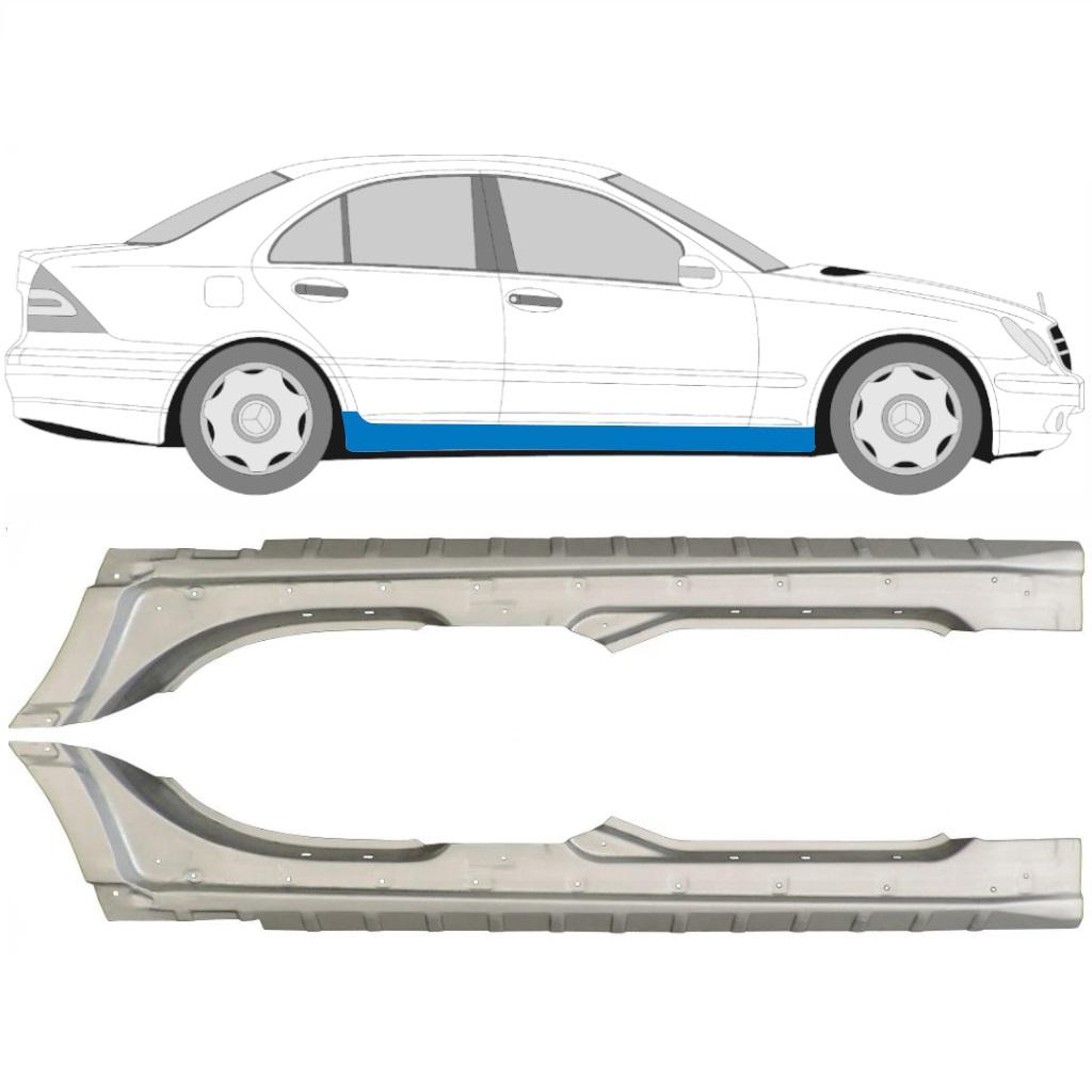 Rechts Mercedes C-Klasse W203 2000-2007 Hinten Tür Reparaturblech