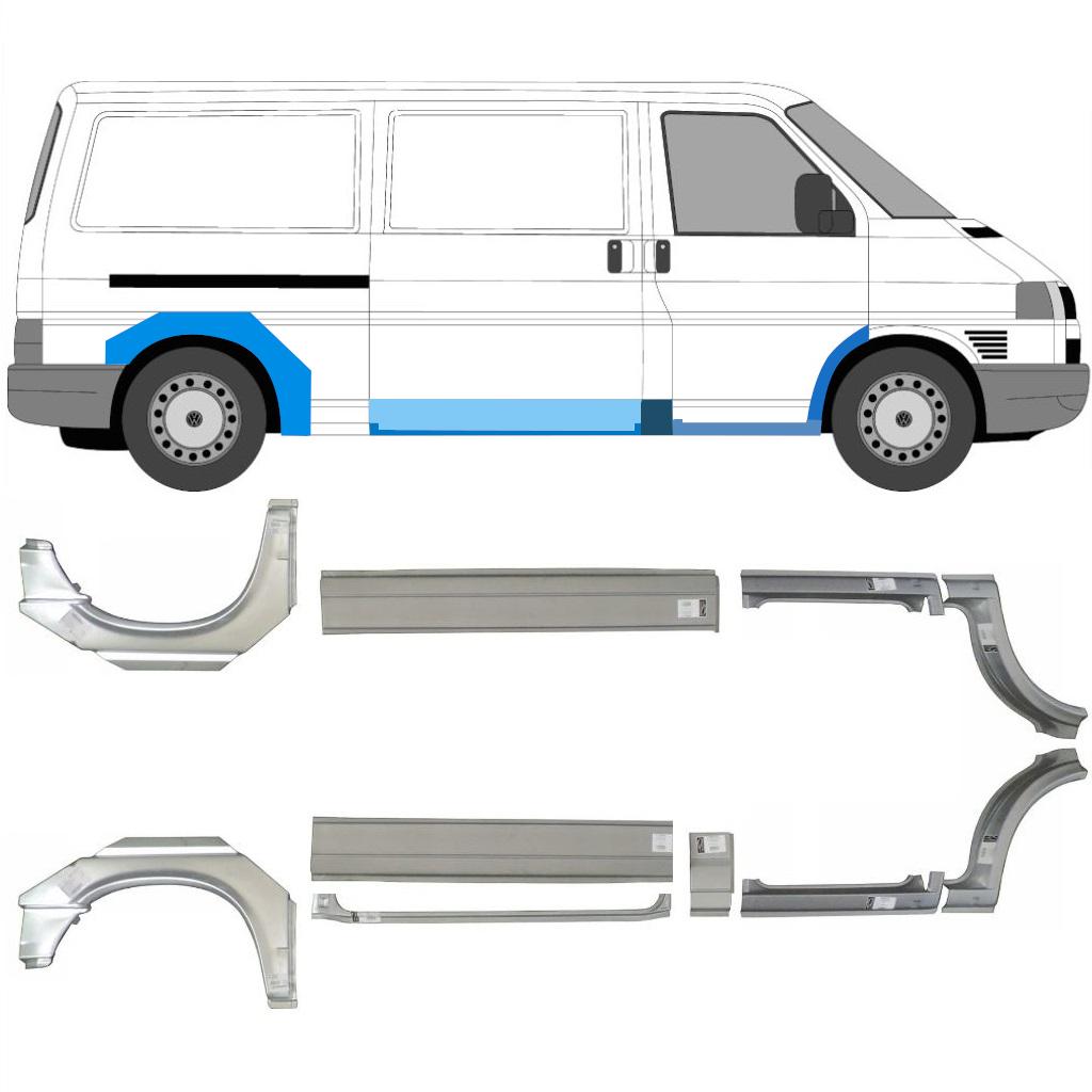 VW VOLKSWAGEN TRANSPORTER T4 LWB 1990-2003 REAR WHEEL ARCH REPAIR PANEL LEFT LH