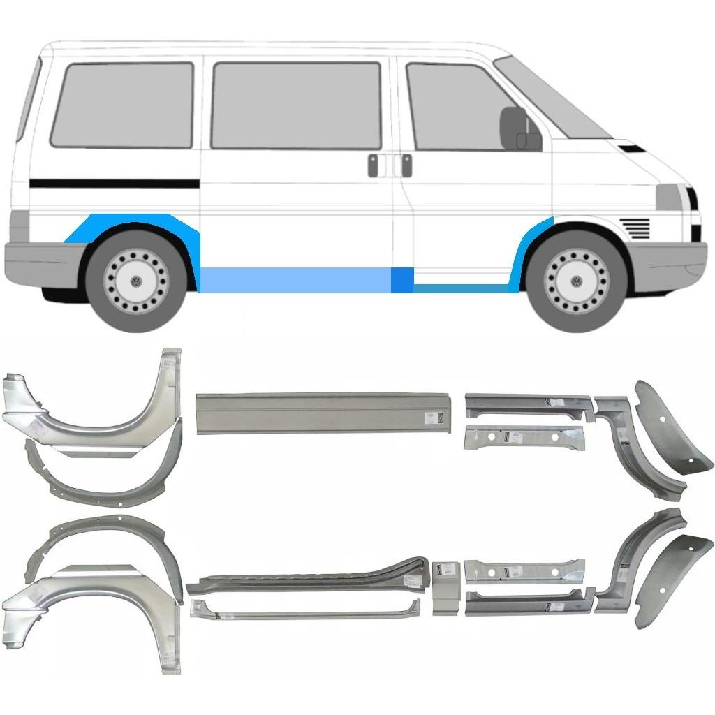 Volkswagen Transporter T4 1990-2003 Hinten Tür Reparaturblech Außen Rechts