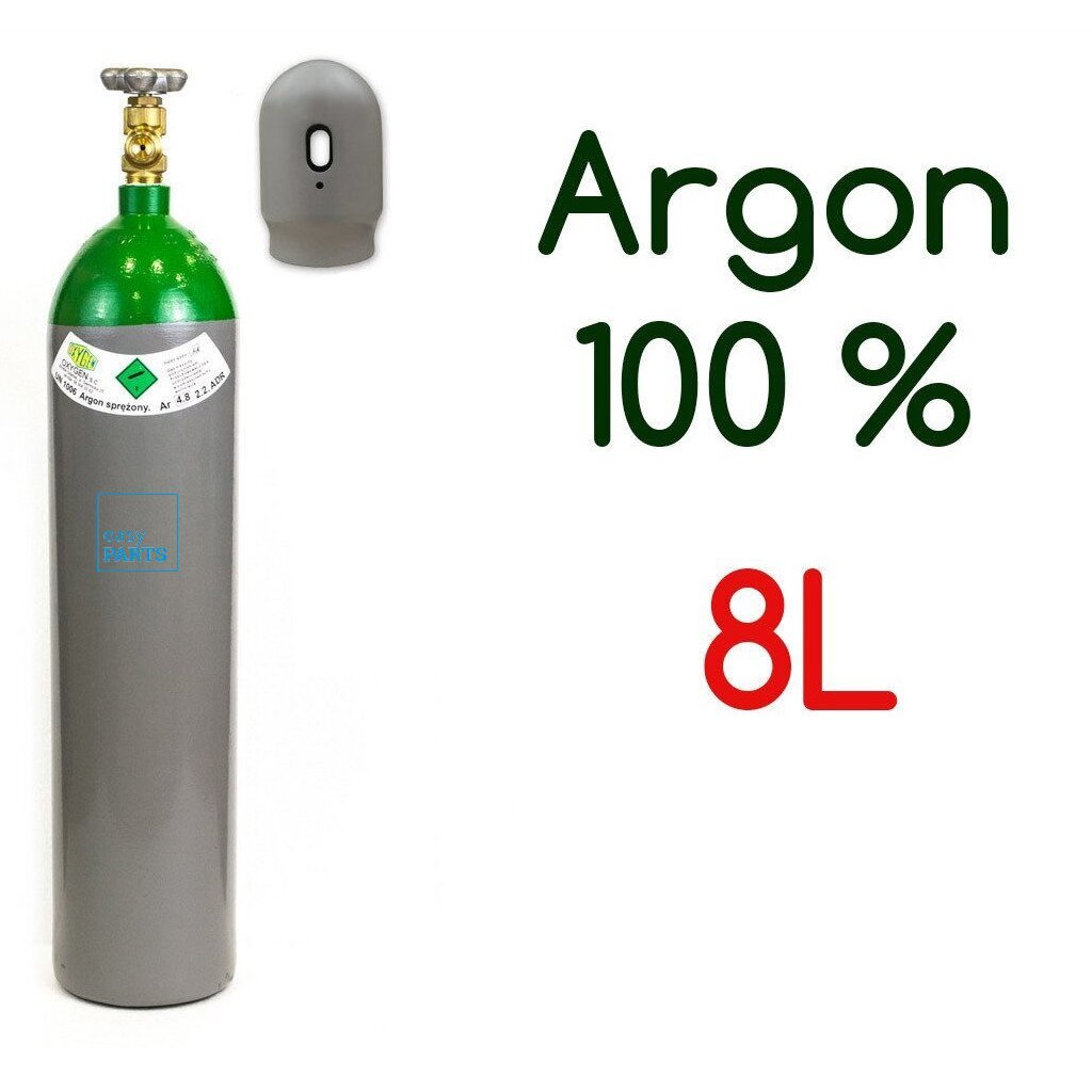argon gas bottle cylinder 100 full 8 liter 200 bar pure. Black Bedroom Furniture Sets. Home Design Ideas