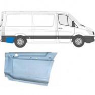 MERCEDES SPRINTER VW CRAFTER 2006- MWB REPAIR PANEL BEHIND REAR WHEEL / RIGHT RH