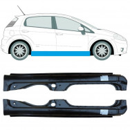 FIAT GRANDE PUNTO PUNTO EVO 2005-2018 FULL SILL STEEL SET OF 2 (Pair)