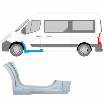 RENAULT MASTER OPEL MOVANO 2010- FRONT DOORSTEP SILL FRONT ARCH LEFT