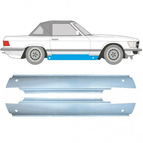 MERCEDES SL R107 C107 CABRIO 1971-1989 FULL SILL REPAIR PANEL / SET OF 2 / PAIR