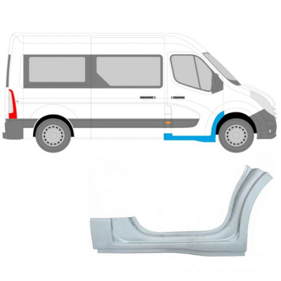 RENAULT MASTER OPEL MOVANO 2010- FRONT DOORSTEP SILL FRONT ARCH RIGHT