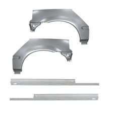 HONDA CIVIC 95-01 EJ/EK 3 DOORS STEEL REPAIR KIT | 2x REAR ARCH + 2x SILL