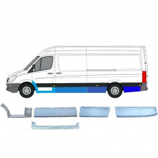 MERCEDES SPRINTER VW CRAFTER 2006- REPAIR PANEL SET OF 9 PIECES  EXTRA LWB