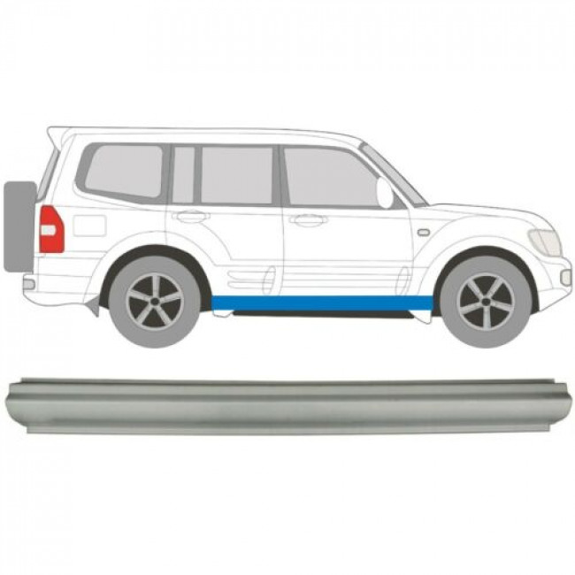 MITSUBISHI PAJERO 3 III 1999-2006 SILL REPAIR PANEL ROCKER PANEL RIGHT = LEFT
