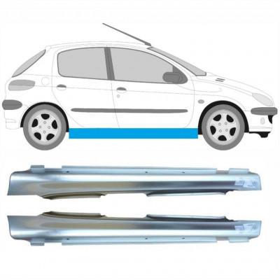 PEUGEOT 206 1998- 5 DOOR REPAIR PANEL FULL SILL SET OF 2 / Pair