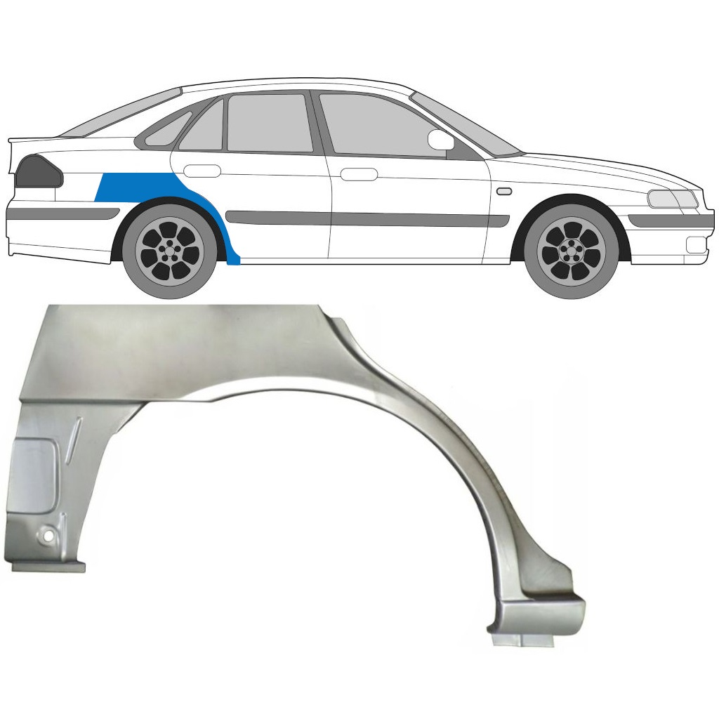 MAZDA 626 1997-2002 REAR WHEEL ARCH / RIGHT