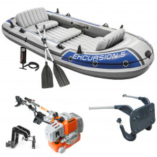 INFLATABLE BOAT DINGHY 5.8 HP 2 STROKE LIGHT OUTBOARD ENGINE FISHING 5 PERSON