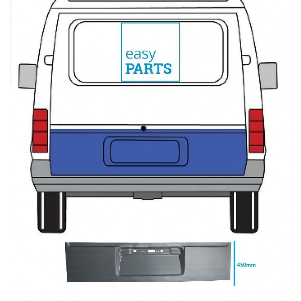 FORD TRANSIT 1991-2000 REPAIR PANEL OUTER SECTION REAR DOOR