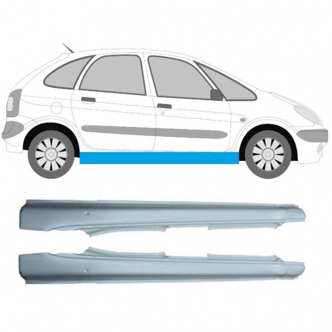 CITROEN XSARA PICASSO 1999-2012 REPAIR PANEL SILL SET OF 2 / Pair