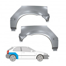 HONDA CIVIC 95-01 EJ/EK 3 DOORS REPAIR PANEL REAR WHEEL ARCH WING SET OF 2