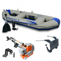 INFLATABLE BOAT DINGHY 5.8 HP 2 STROKE  LIGHT OUTBOARD ENGINE MOTOR FISHING
