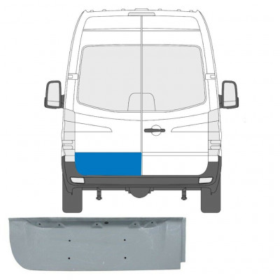 MERCEDES SPRINTER 2006- REAR DOOR PANEL LOW / LEFT