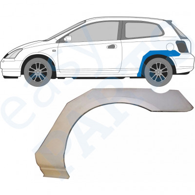 HONDA CIVIC 2001-2005 3 DOOR REAR WHEEL ARCH / LEFT