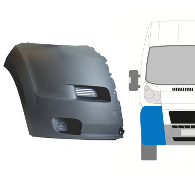 FIAT DUCATO 2006-2014 FRONT BUMPER RIGHT