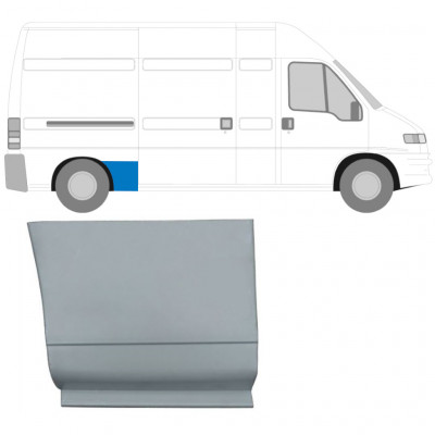 FIAT DUCATO BOXER RELAY 1994-2006 REPAIR PANEL AHEAD REAR WHEEL / RIGHT