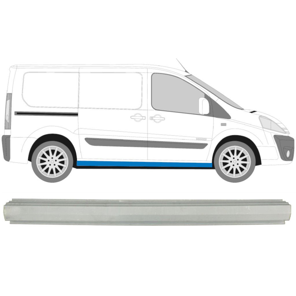 FIAT SCUDO DISPATCH EXPERT 2007- SILL REPAIR PANEL / RIGHT