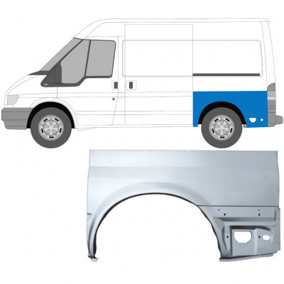 FORD TRANSIT 2000-SWB REAR WING PANEL / LEFT