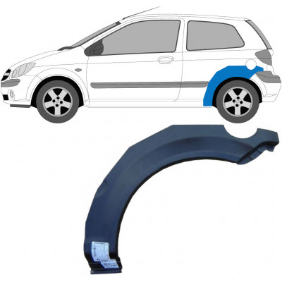 HYUNDAI GETZ 2002-2010 3 DOOR REAR WHEEL ARCH / LEFT