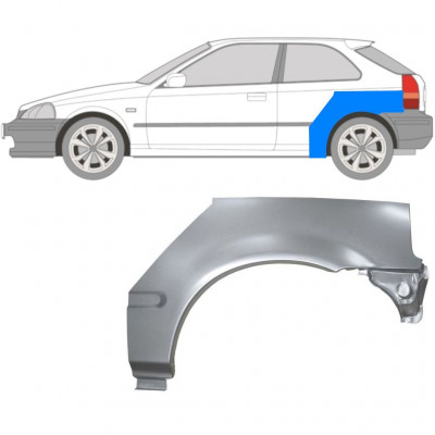 HONDA CIVIC 1995-2000 3 DOOR REAR WHEEL ARCH / LEFT