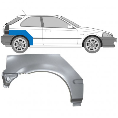 HONDA CIVIC 1995-2000 3 DOOR REAR WHEEL ARCH / RIGHT