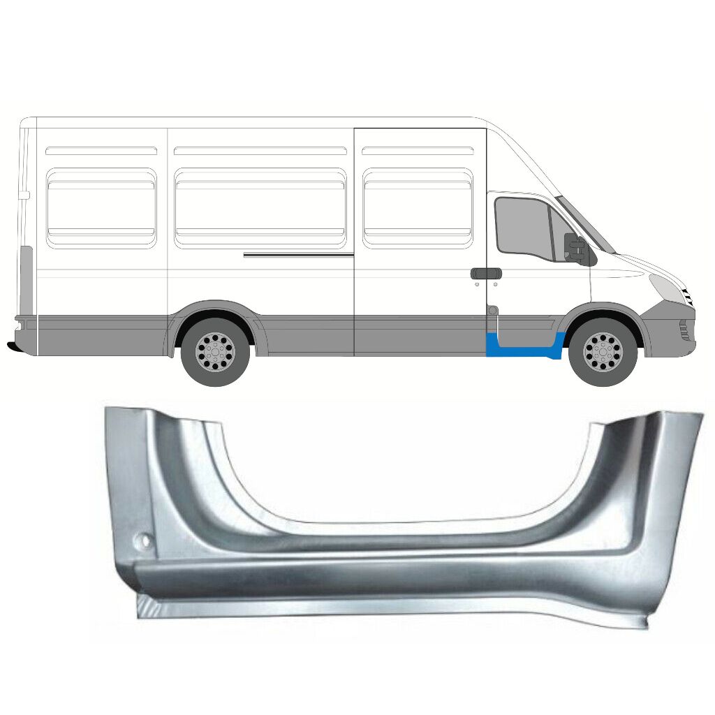 IVECO DAILY 2006-2014 FRONT SILL DOORSTEP PANEL / RIGHT