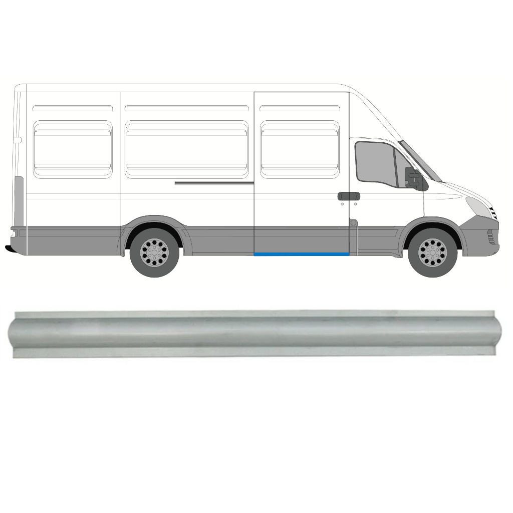 IVECO DAILY 2006-2014 SLIDING DOOR SILL PANEL / RIGHT