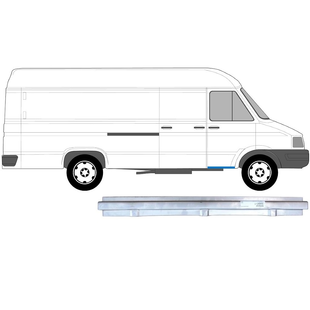 IVECO DAILY 1985-1999 FRONT SILL PANEL / RIGHT = LEFT