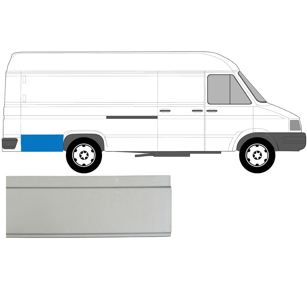 IVECO DAILY 1985-1999 REAR WING PANEL / RIGHT = LEFT