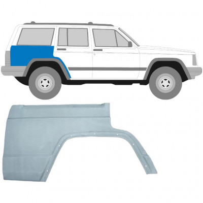 JEEP CHEROKEE XJ 1984-2001 REAR WING PANEL / RIGHT