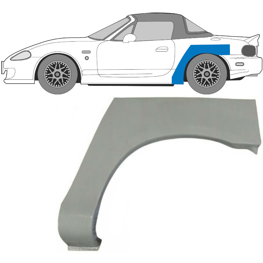 MAZDA MX-5 1998-2005 REAR WHEEL ARCH / LEFT