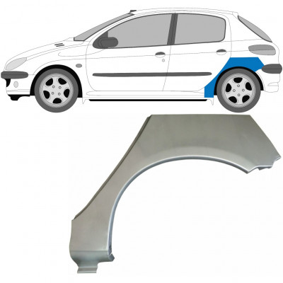 PEUGEOT 206 1998- 5 DOOR REAR WHEEL ARCH / LEFT