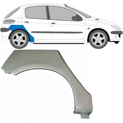PEUGEOT 206 1998- 5 DOOR REAR WHEEL ARCH / RIGHT