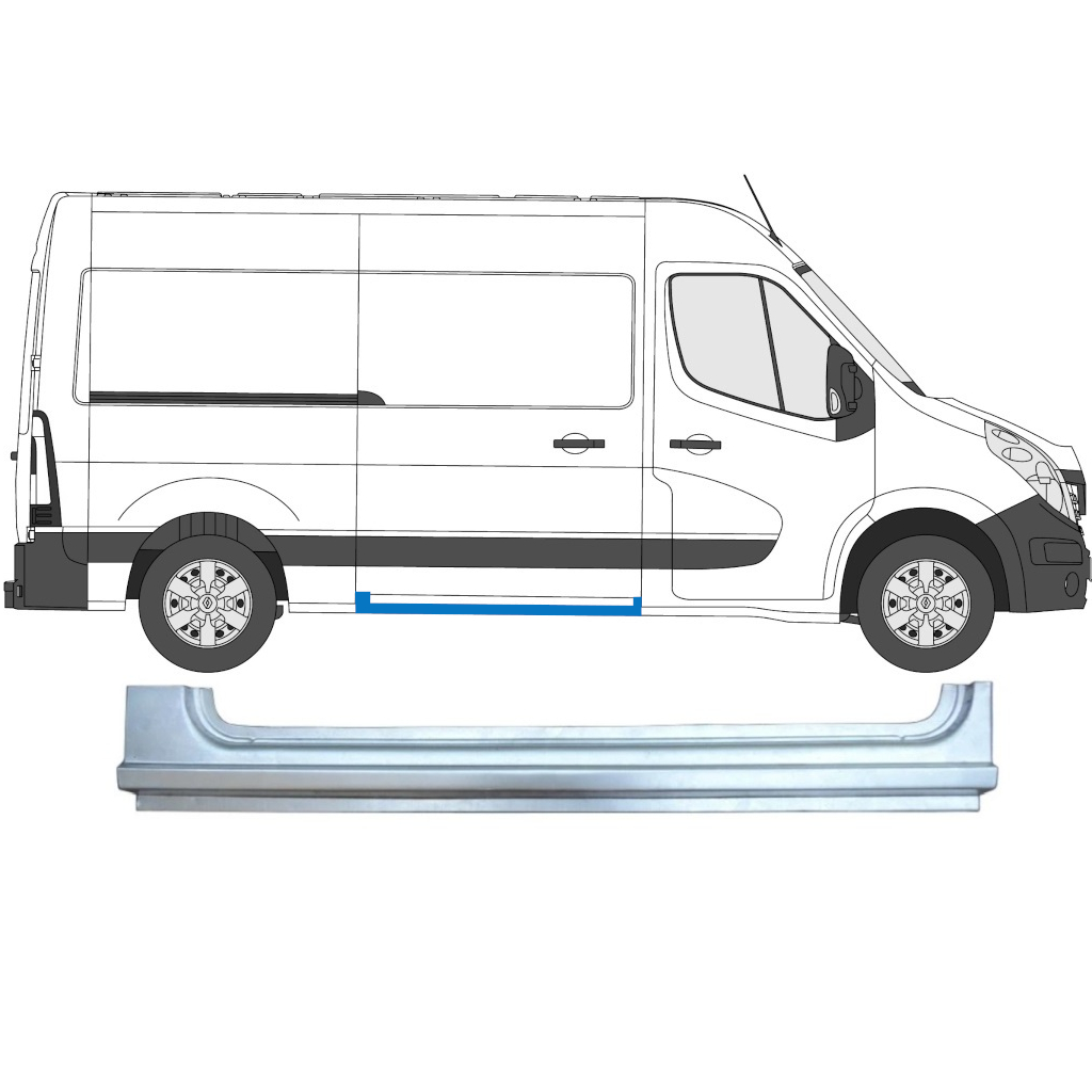 OPEL MOVANO / R MASTER 2010- SLIDING DOOR SILL / RIGHT