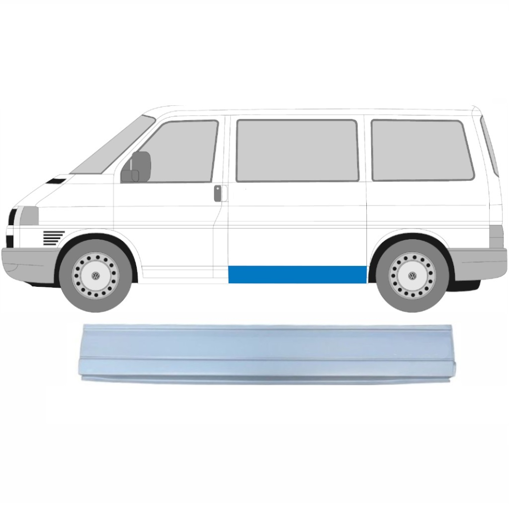 VW T4 1990-2003 LOW SIDE SKIN REPAIR PANEL / LEFT