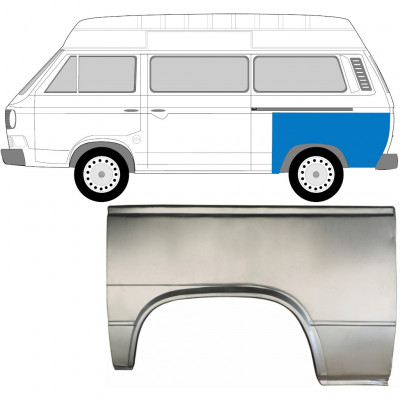 VW T3 1979-1992 REAR WING REPAIR PANEL / LEFT