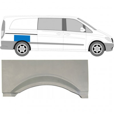 MERCEDES VITO 2003-2010 REAR WING PANEL / RIGHT