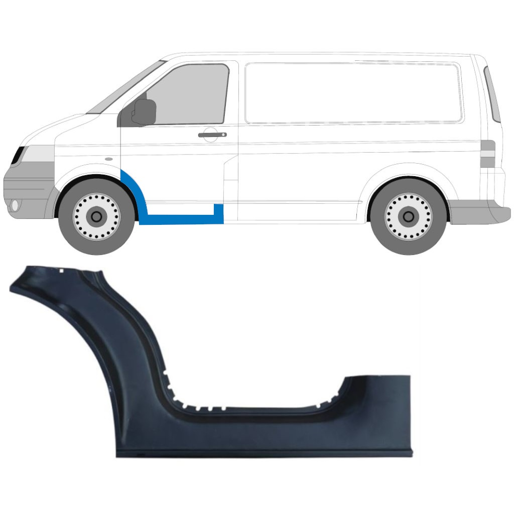 VW T5 2003-2015 1/3 FRONT DOOR SILL PANEL / LEFT