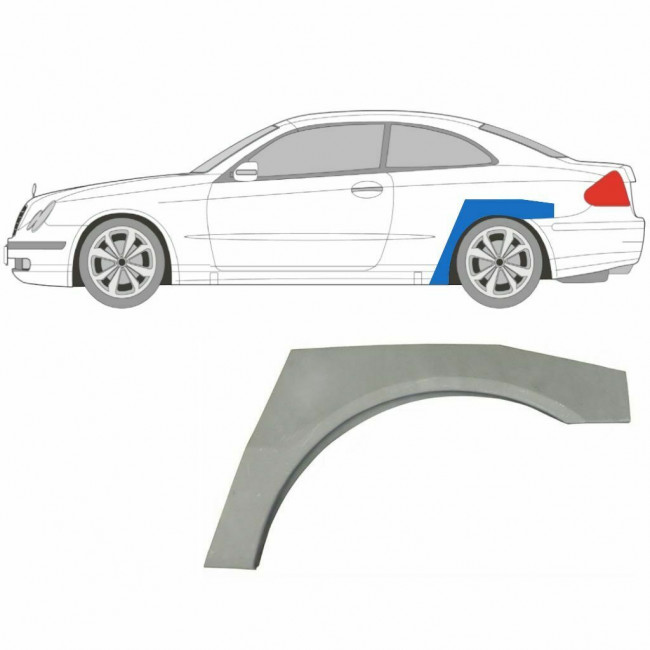 MERCEDES CLK W209 COUPE 2002-2009 REPAIR PANEL REAR WHEEL ARCH WING SET OF 2