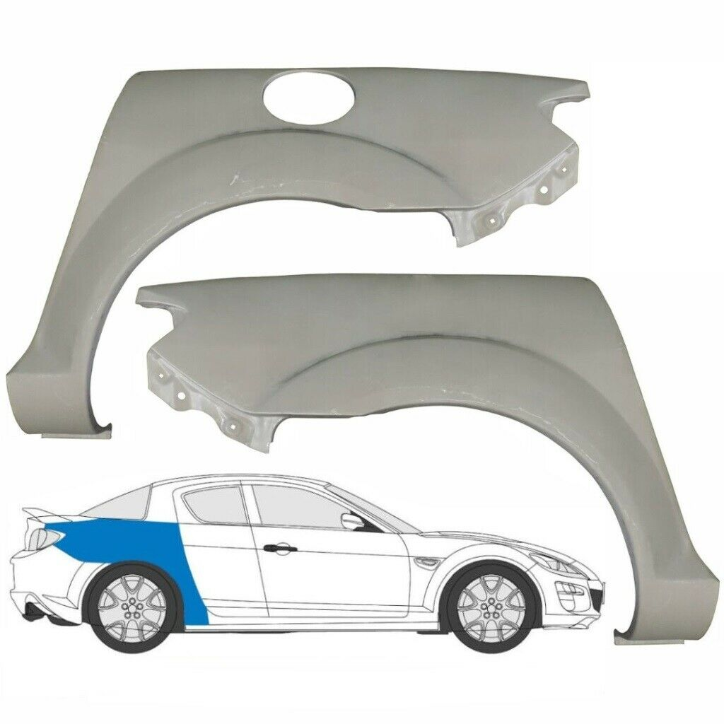 MAZDA RX8 RX-8 2003-2012 2x REAR WING + 2x SILL REPAIR PANEL  / REPAIR KIT