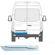 MERCEDES SPRINTER VW CRAFTER  2006- REAR DOOR REPAIR PANEL METAL STEEL PLATE LEFT