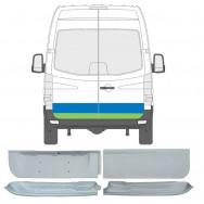 MERCEDES SPRINTER VW CRAFTER 2006- REAR DOOR REPAIR PANET INNER OUTER / SET OF 4