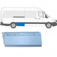 MERCEDES SPRINTER VW CRAFTER LWB XLWB 2006- REPAIR PANEL AHEAD REAR WHEEL RIGHT
